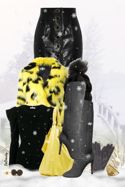 nr 2412 - Winter chic- Fashion set