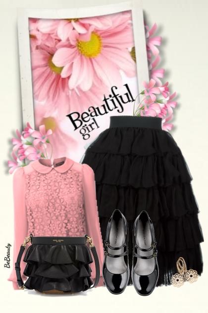 nr 2458 - Beautiful girl- combinação de moda