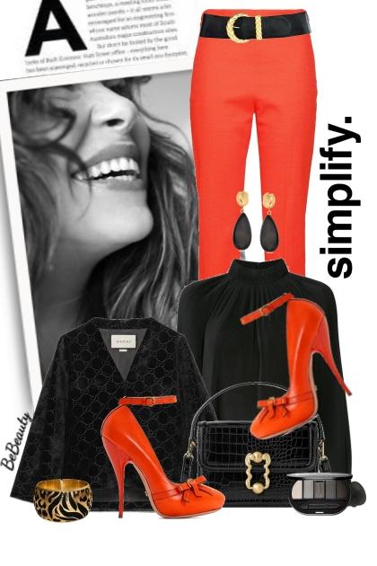 nr 2464 - Orange & black