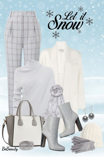 nr 2544 - Winter chic- Modna kombinacija