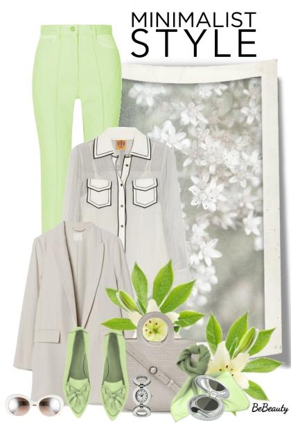 nr 2575 - Minimalist style- Modna kombinacija