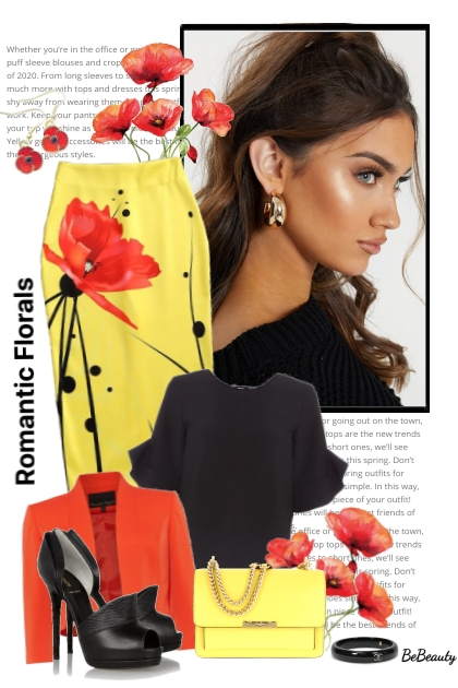 nr 2606 - Romantic florals- Modna kombinacija