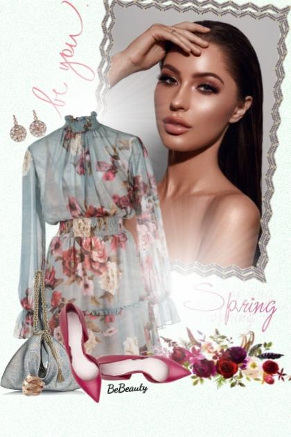 nr 2657 - Floral dress