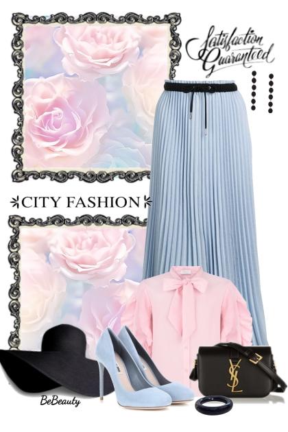 nr 2681 - Baby blue pleated skirt