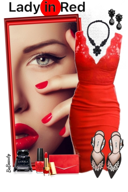 nr 2763 - Lady in red