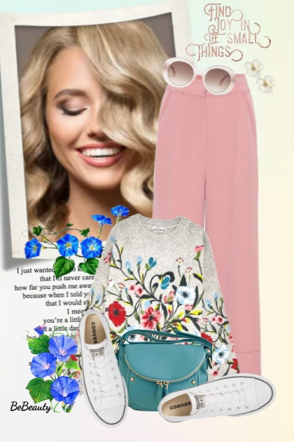 nr 2765 - Floral sweater