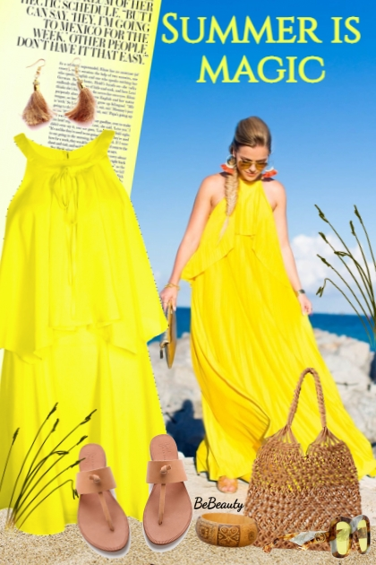 nr 2860 - Yellow dress
