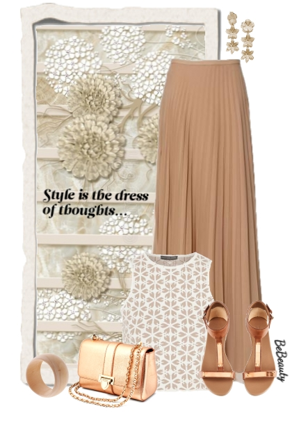nr 2863 - Pleated maxi skirt