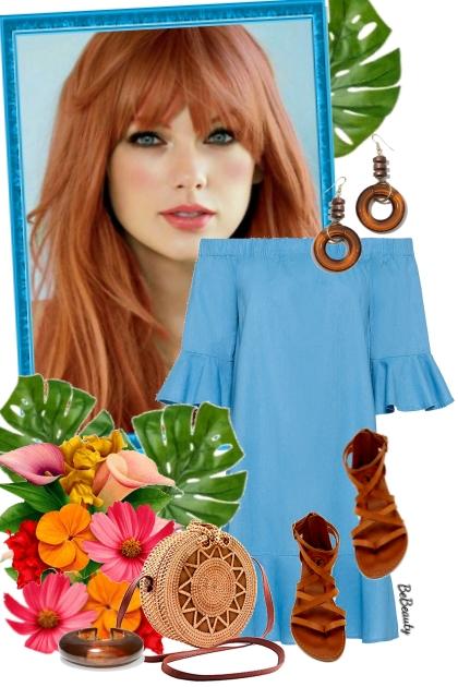 nr 2926 - Summer blue dress