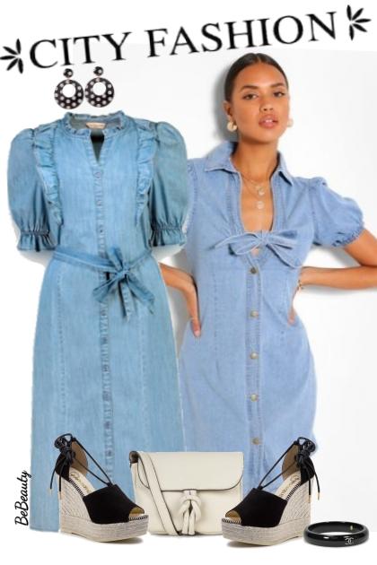 nr 2930 - Denim dress