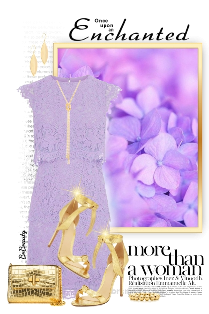 nr 2934 - Lilac & gold