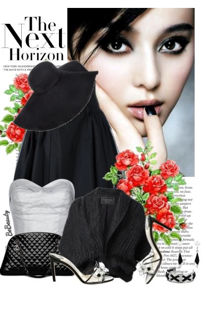 nr 2942 - Elegance in silver  & black