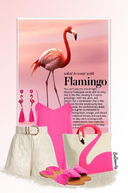 nr 2958 - Flamingo- Fashion set