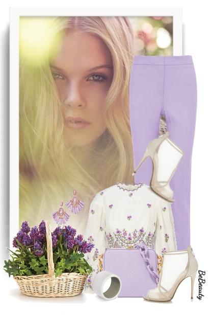 nr 2964 - Purple shades- Combinaciónde moda