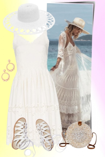 nr 3037 - Woman in white