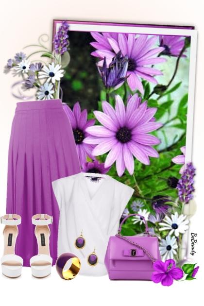 nr 3066 - White & purple