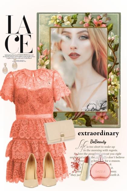 nr 3083 - Lace dress