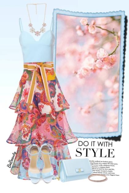 nr 3171 - Floral skirt