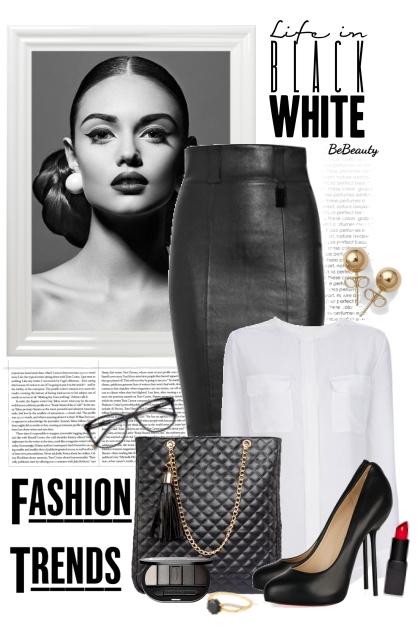 nr 3183 - Timeless classic: black - white