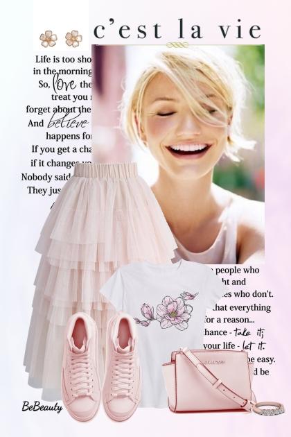 nr 3196 - Sweet pink - Modna kombinacija