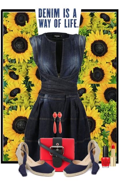 nr 3268 - Denim dress