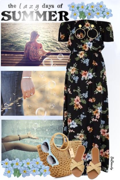nr 3302 - Floral dress