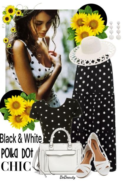 nr 3421 - Black & white polka dot