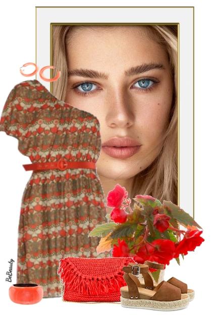 nr 3422 - Asymmetric dress