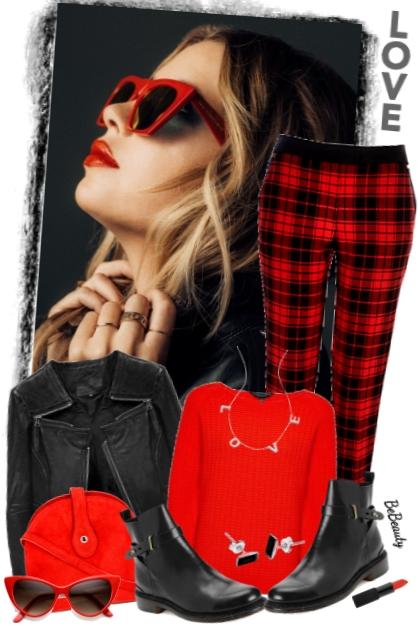 nr 3517 - Red ♥ black