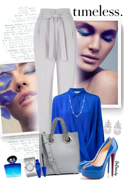 nr 3536 - Blue & grey- Fashion set