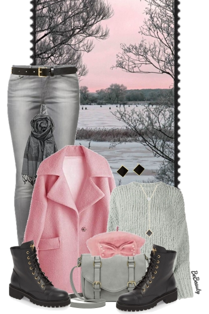nr 3653 - Pink & grey