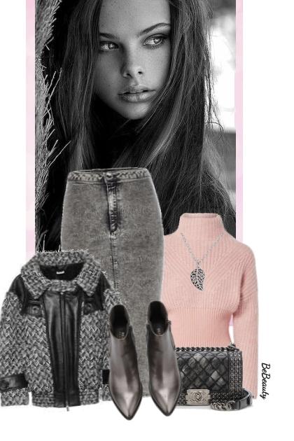 nr 3660 - Pink & grey