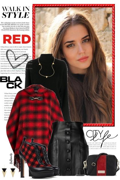 nr 3663 - Red - black