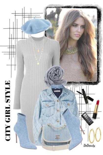 nr 3667 - Sweater dress & denim