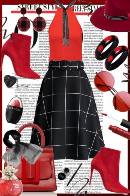 Red in Elegant Everyday Look