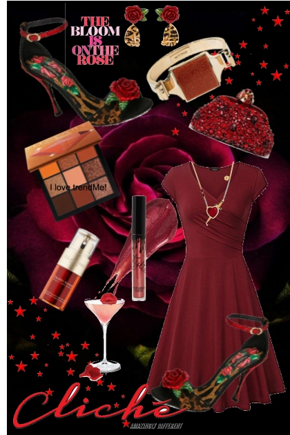 Journi's Autumn Red Party Outfit
