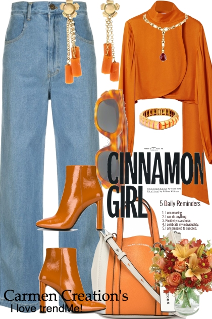 Journi's Pumpkin Spice Casual Party Outfit
