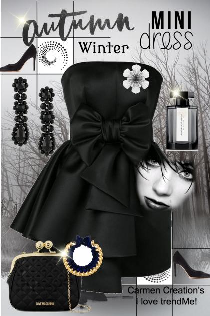 Journi's Autumn Winter Mini Dress Outfit