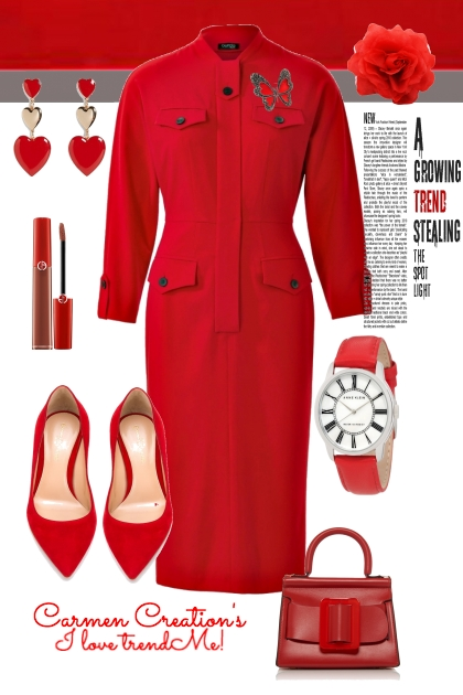 Journi's Red Business Dress Outfit