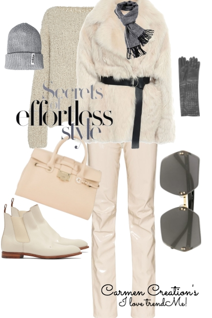 Journi's Winter Grey and Pearl Outfit