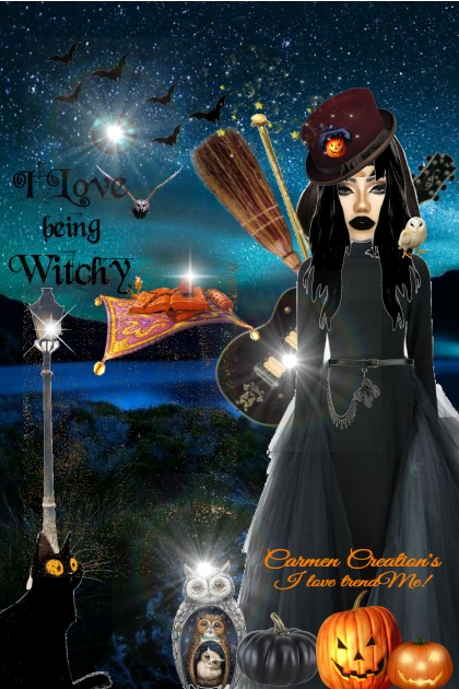 "Journi's Art Expression ""I Love Being Witchy"""