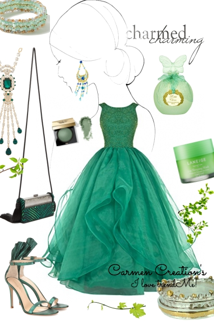 Journi's Green Ball Gown Outfit
