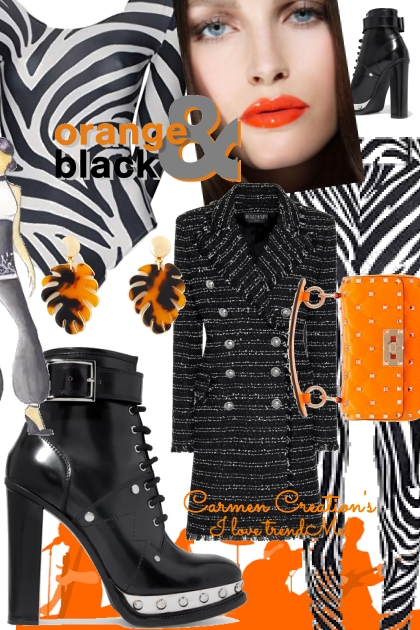 Journi's Orange And Black Outfit- コーディネート