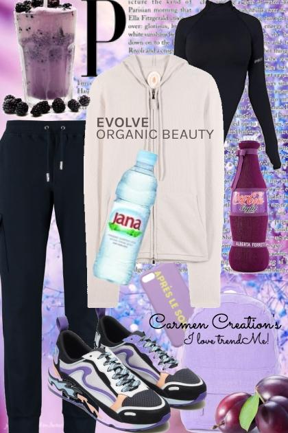 Journi's Organic Beauty Running Outfit- Fashion set