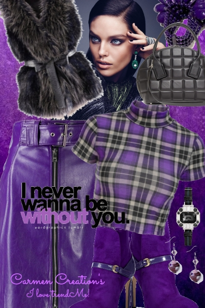 """Journi's Millennial Purple Outfit """"For Contest"""""""