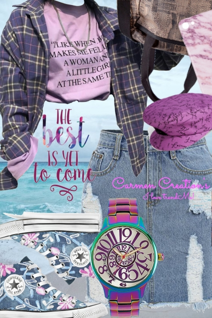 "Journi's Millennial Purple Outfit 7 ""For Contest""- Fashion set"