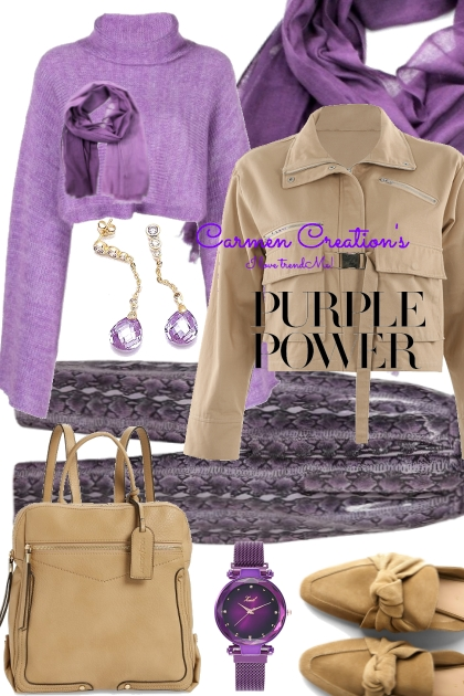 """Journi's Millennial Purple Outfit 8 """"For Contest"""""""