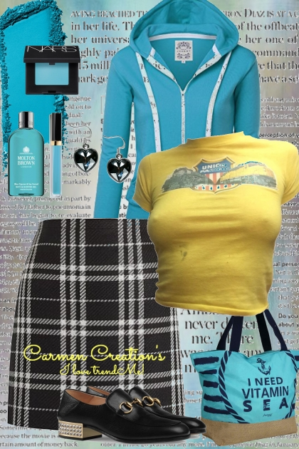 Journi's Casual Friday School Outfit- Combinaciónde moda