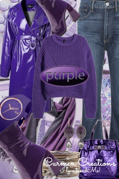 Journi's Winter Purple Accessorized Outfit