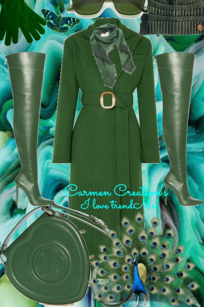 Journi's Winter Emerald Green Coat Outfit